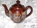 Vintage Brown Glaze Oriental Teapot