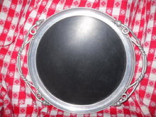 Vintage Aluminum Serving Tray
