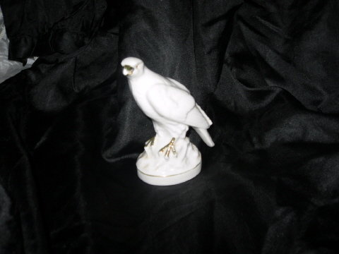 Vintage Gold Castle Porcelain Bird Figurine