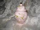 Vintage Pink Ginger Jar