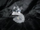 Clear & Frosted Glass Bird Figurine