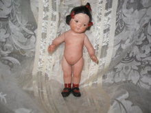 Vintage Hand Painted Porcelain Doll