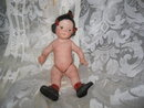 Vintage Hand Painted Porcelain Doll