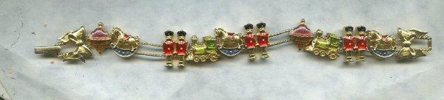 Christmas Sliding Charm Bracelet