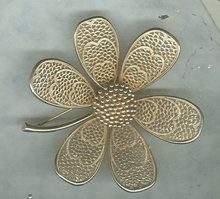 Vintage Pastelli Flower Pin Brooch