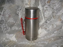 Vintage Aluminum Thermos Container