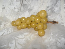 Vintage Carved Alabaster Cluster of Grapes