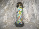 Art Glass Lighthouse Lamp