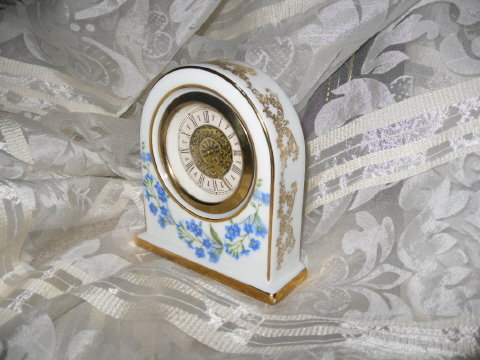 Vintage Authentic Limoges France Porcelain Clock