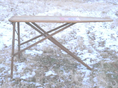Vintage Rid-Jid Wooden Ironing Board
