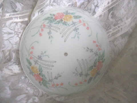 Vintage Frosted Glass Floral Light Globe