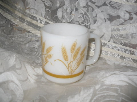 Vintage Fire King Style Wheat Coffee Mug