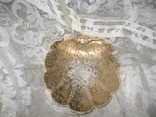 Vintage Le Mieux 24 Kt Gold Porcelain Shell Dish