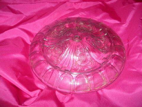 Vintage Glass Ceiling Medallion