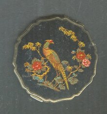 Vintage Enamel  Stratton Pheasant Compact