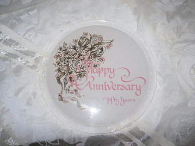 Vintage 50th Wedding Anniversary Trivet
