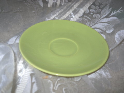 Vintage Homer Laughlin Rhythm Lime Green Saucer