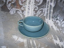 Vintage Russell Wright Style Cup & Saucer
