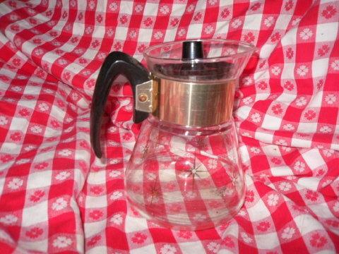 Vintage Retro Glass Coffee Carafe Server
