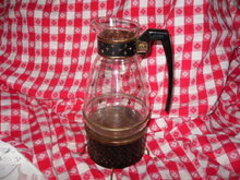 Vintage Retro Silex Glass Coffee Carafe Server w/Warmer & Lid