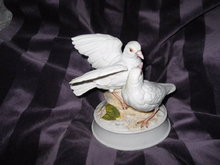 Gorham Porcelain Musical Dove Figurine