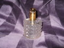 Vintage Step Crystal Perfume Bottle with Atomizer