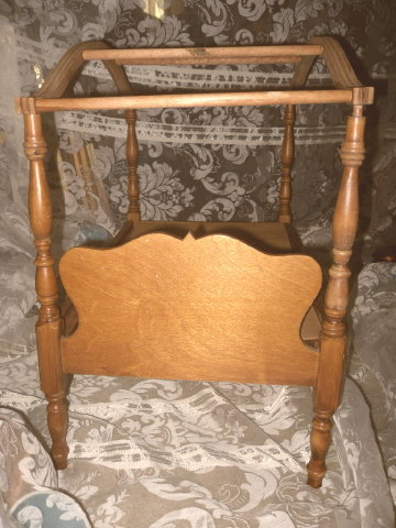 Wood Doll Bed   **LOOK** Canopy Bed