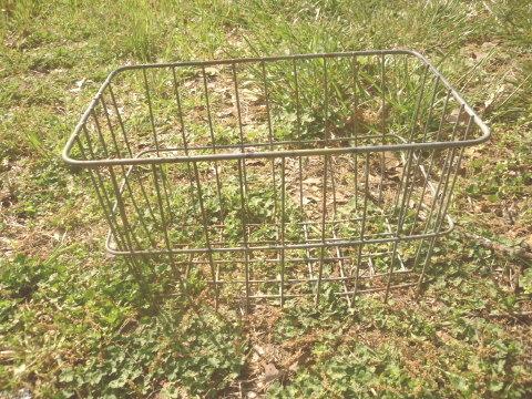 Vintage Machine Age Industrial Metal Wire Basket