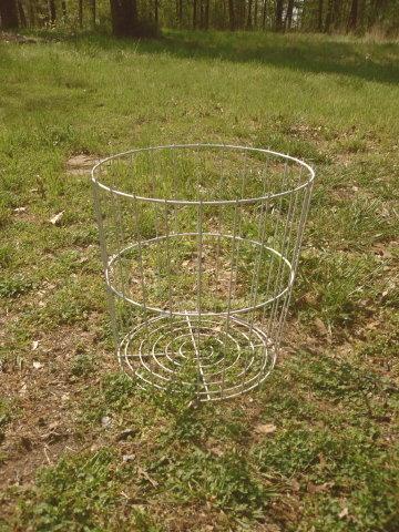 Large White Metal Wire Basket