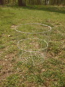 Large White Metal Wire Basket