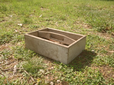 Vintage Wooden Tool Box Caddy