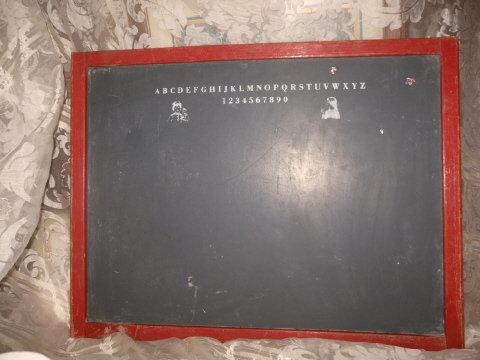 Vintage Large Children's Black Board