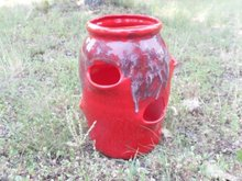 vintage Ceramic  Strawberry Planter Pot