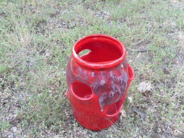 vintage Ceramic  Strawberry Planter Pot