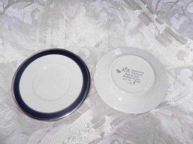 Vintage American Airlines Sterling  Porcelain Saucers
