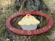 Hand Made Wooden  Pie Kitchen Sign