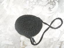 Vintage Crocheted Round Coin Purse with Handle