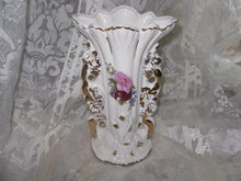 Vintage Fancy Transferware Vase