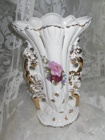 Vintage Fancy Transferware Vase