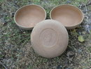 Vintage Ellingers Agatized Wood Bowls  **Set of 3**