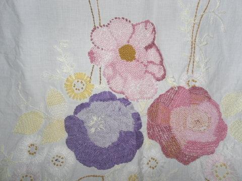 Vintage Hand Crochet Coverlet w/Crochet Lace