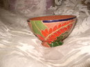Vintage High Glaze Redware Terra Cotta  Pottery Bowl