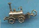 Charm 14Kt Locomotive