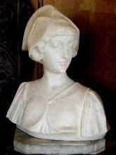 Antique Italian Marble Bust of a young Aristocratic Lady