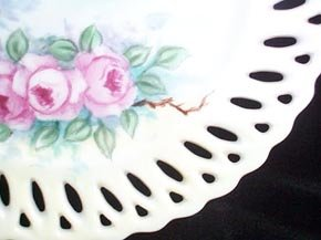Plate Handpainted Roses Porcelain
