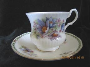 Queen's May Flower of the Month Cup and Saucer