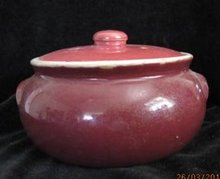 Uhl Pottery Bean Pot with Lid