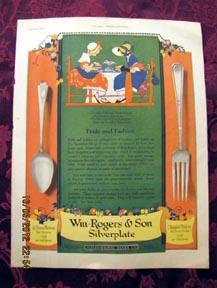 Wm. Rogers & Son Silverplate Magazine Advertisement