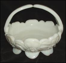 Westmoreland Pansy Bowl Dogwood Pattern Milk Glass