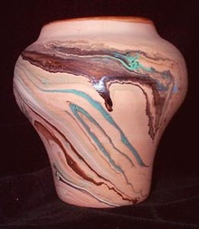 Nemadji Pottery Vase Minnesota Arrowhead Region